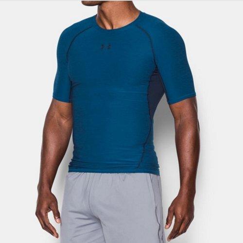 《UA出清6折》Shoestw【1285688-480】UNDERARMOURUA服飾緊身衣短袖運動束衣吸濕排汗藍色男生