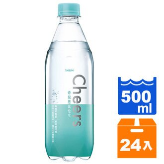 ★1 / 11(五) 10:00準時開賣★限量100組★平均$15.7 / 瓶~泰山 Cheers氣泡水 500ml (24入) / 箱 0