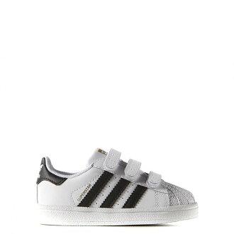 【EST S】Adidas Superstar Foundatio B23637 魔鬼氈 小童鞋 白黑 H0317
