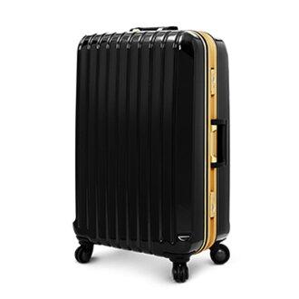 【加賀皮件】 Deseno Weekender 瑰麗绚燦 黑色金彩 深鋁框PC鏡面行李箱/旅行箱 26吋 2254-26BG