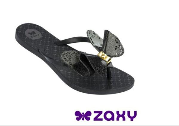 陽光運動館:ZaxyButterfly蝴蝶結女人字拖鞋ZA8182390058黑[陽光樂活]