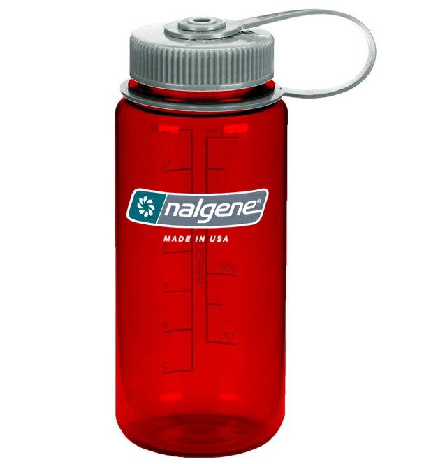 Nalgene 寬嘴水壺/運動水瓶/寬口瓶 Tritan 500cc 美國製 2178-2516 戶外紅
