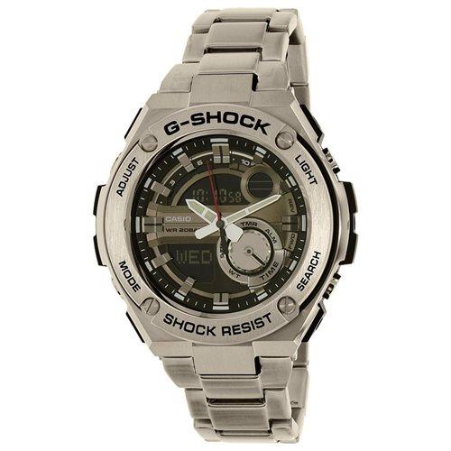 Casio Men's G-Shock GST210D-1A Silver Stainless-Steel Quartz Watch 0