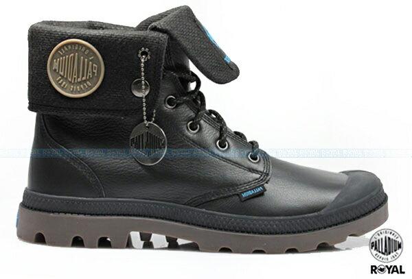 Palladium 新竹皇家 PAMPA SPORT BAGGY WP 黑色 皮質 防水 反摺靴 男女款 NO.A8232
