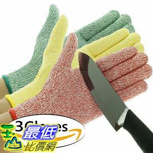 [106美國直購] 切割手套 3 Pack TruChef Cut Resistant Gloves - Maximum Level 5 Protection Food Grade 尺寸S