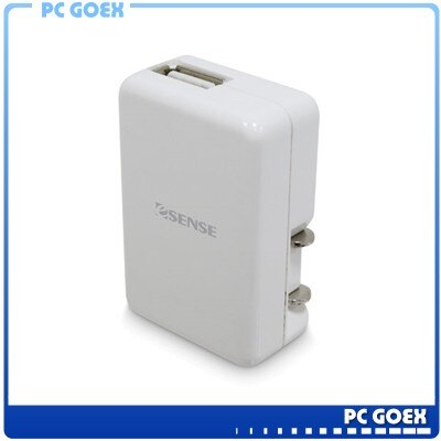 Esense 1000mA Mini 折疊 USB 充電器-白 EUC811☆pcgoex 軒揚☆