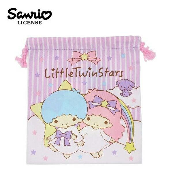 【日本正版】雙子星束口袋收納袋抽繩束口袋KIKILALA三麗鷗Sanrio-464950