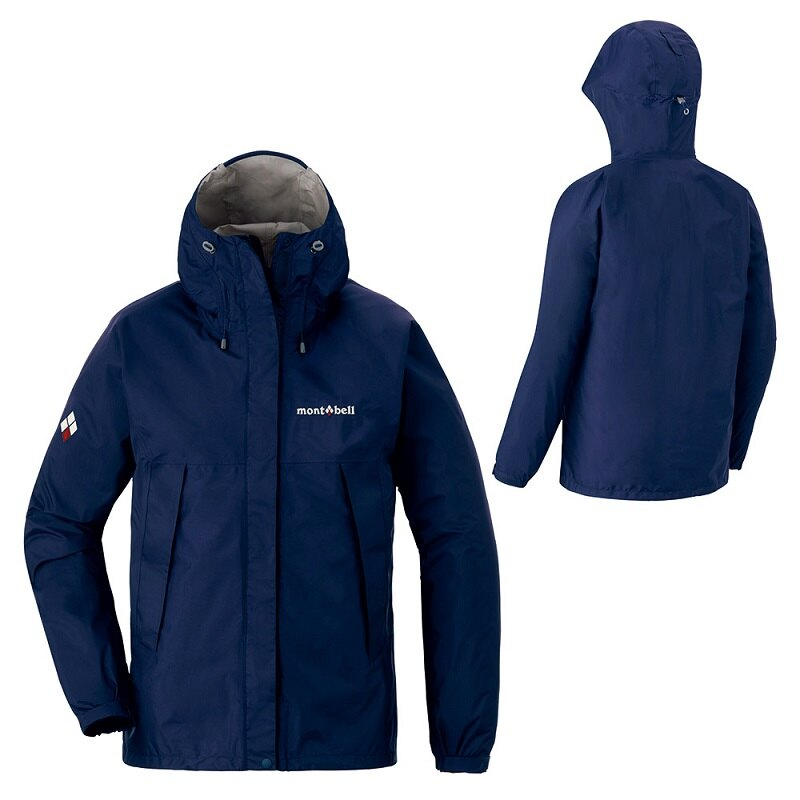【【蘋果戶外】】mont-bell 1128601 午夜藍 日本 女 防水透氣外套 類Gore-tex 防水外套 雨衣 風衣 風雨衣