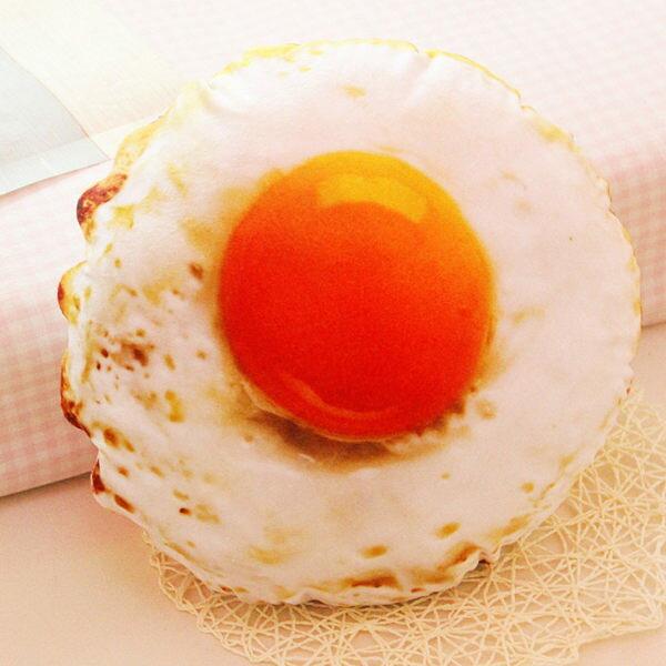 (預購) 創意仿真荷包蛋造型抱枕 蛋黃抱枕 靠枕 靠墊