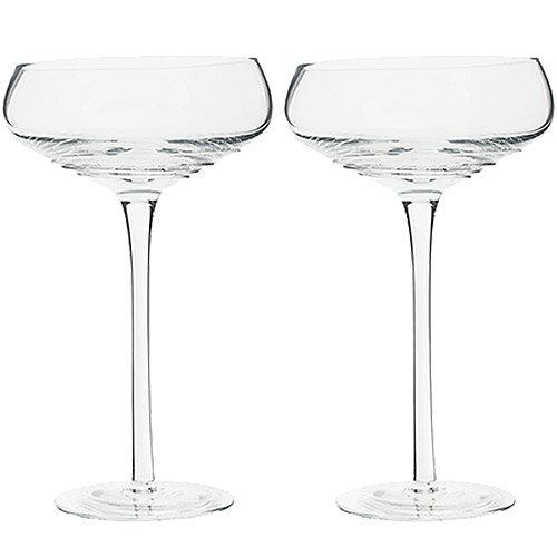 《CreativeTops》Mikasa漣漪淺碟香檳杯2入(265ml)
