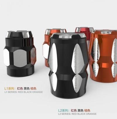 【氣嘴蓋-T6061鋁鎂合金-1.35*2.1cm-1對/套-2套/組】摩托汽車自行車輪胎氣門嘴帽-527026