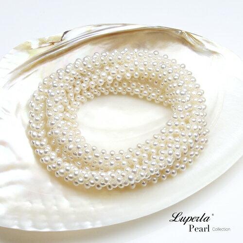 大東山珠寶 法式優雅 天然珍珠項鍊 歐美古典編織珠寶 5