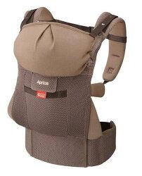 美馨兒*(僅剩2組)愛普力卡 Aprica COLAN CTS 新生兒腰帶型四方向四用途揹巾 -智慧棕 3000元