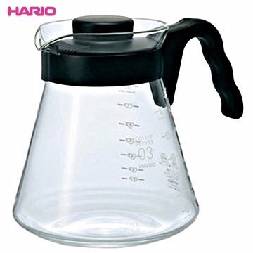 【HARIO】VCS-03B 可微波耐熱咖啡壺 1000ml 咖啡壺 茶壺 玻璃壺 熱水壺 刻度 波型把手 可搭配濾杯