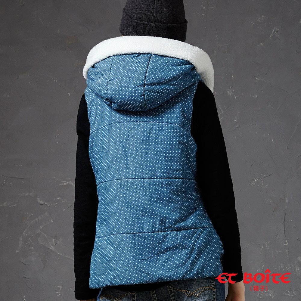 【出清5折↘】點點連帽牛仔背心外套 - BLUE WAY  ET BOiTE 箱子 3