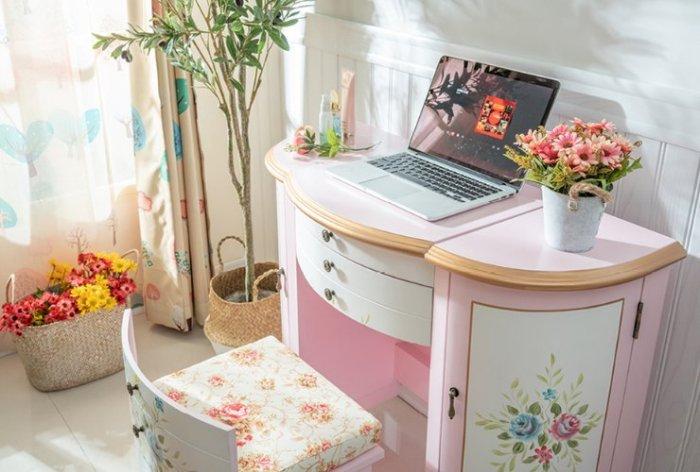 手繪鄉村公主化妝桌(含椅)