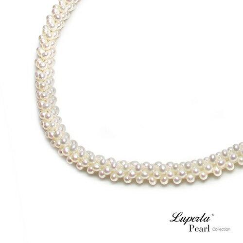 大東山珠寶 法式優雅 天然珍珠項鍊 歐美古典編織珠寶 8