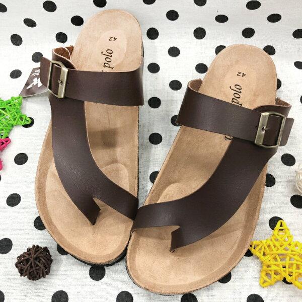 【限量優惠】男款勃肯造型夾腳拖鞋[5176]咖啡超值價$150