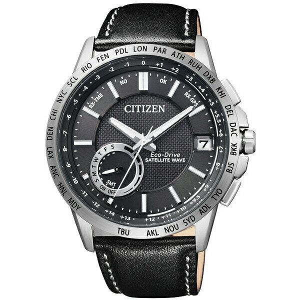 CITIZEN星辰CC3001-01E衛星GPS對時光動能腕錶/黑面44mm