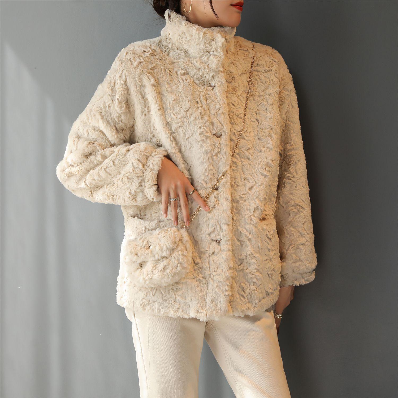 秋冬季2020新款小香風加厚加絨短款毛絨羊羔毛外套女百搭韓版潮流