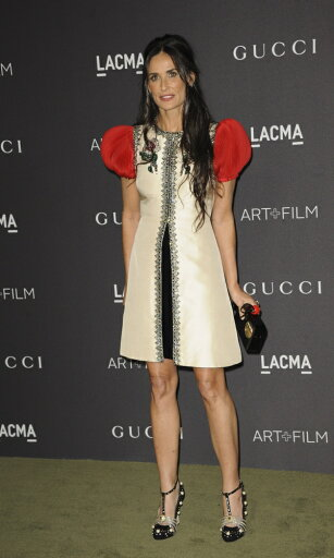 Demi-Moore-Wearing-A-Gucci-Dress-At-Arrivals-For-2016-Lacma-Art-Film-Gala-Los-Angeles-County-Museum-Of-Art-Los-Angeles-Ca-October-29-2016-Photo