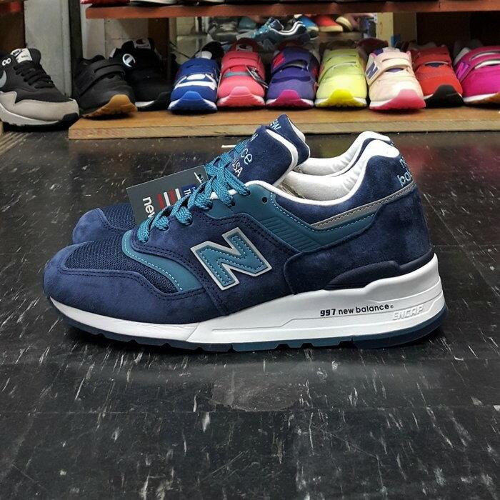 New Balance nb 997 美國製 made in U.S.A. M997CEF 美製 藍色 土耳其藍 麂皮