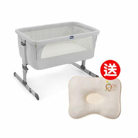 【悅兒園婦幼生活館】Chicco Next 2 Me 多功能移動舒適嬰兒床-雪銀白【送辛巴 有機棉專利透氣枕】