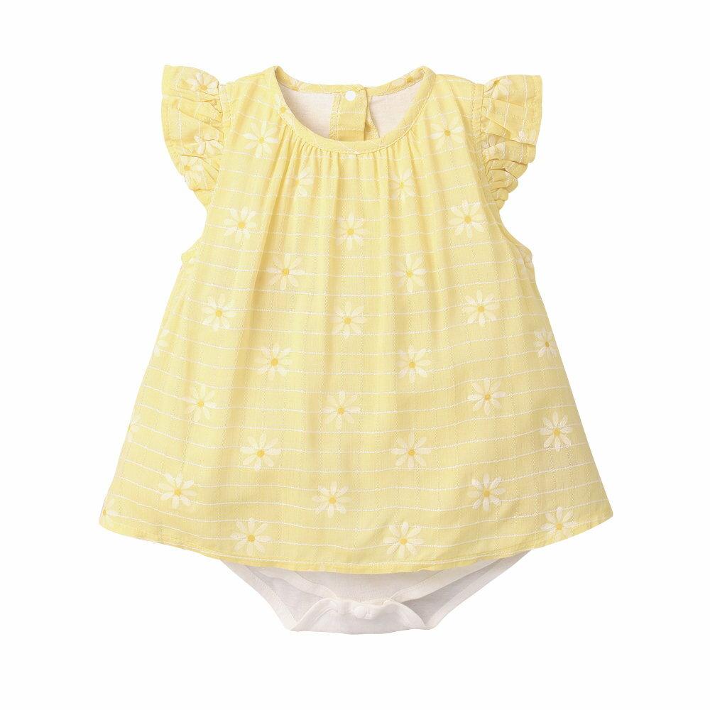 Augelute Baby 小碎花梭織格紋假兩件包屁裙 60184 2