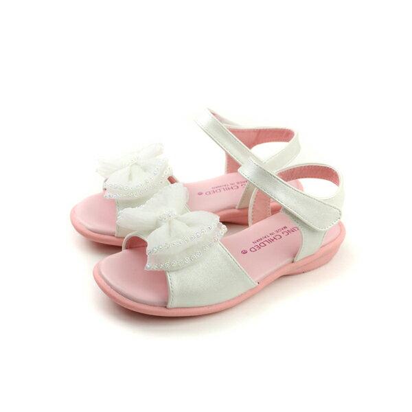 涼鞋 白色 童 no143