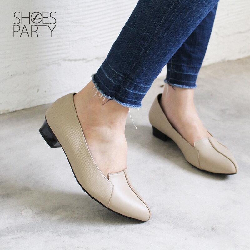 現貨【F2-18827L】外尖內圓俐落感尖頭鞋_Shoes Party 2