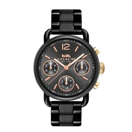 COACH質感永恆黑鋼時尚腕錶14502840