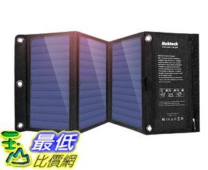 [8美國直購] 太陽能充電器 Nekteck 21W Portable Solar Panel Charger, Waterproof Camping Gear Solar Powered Charger