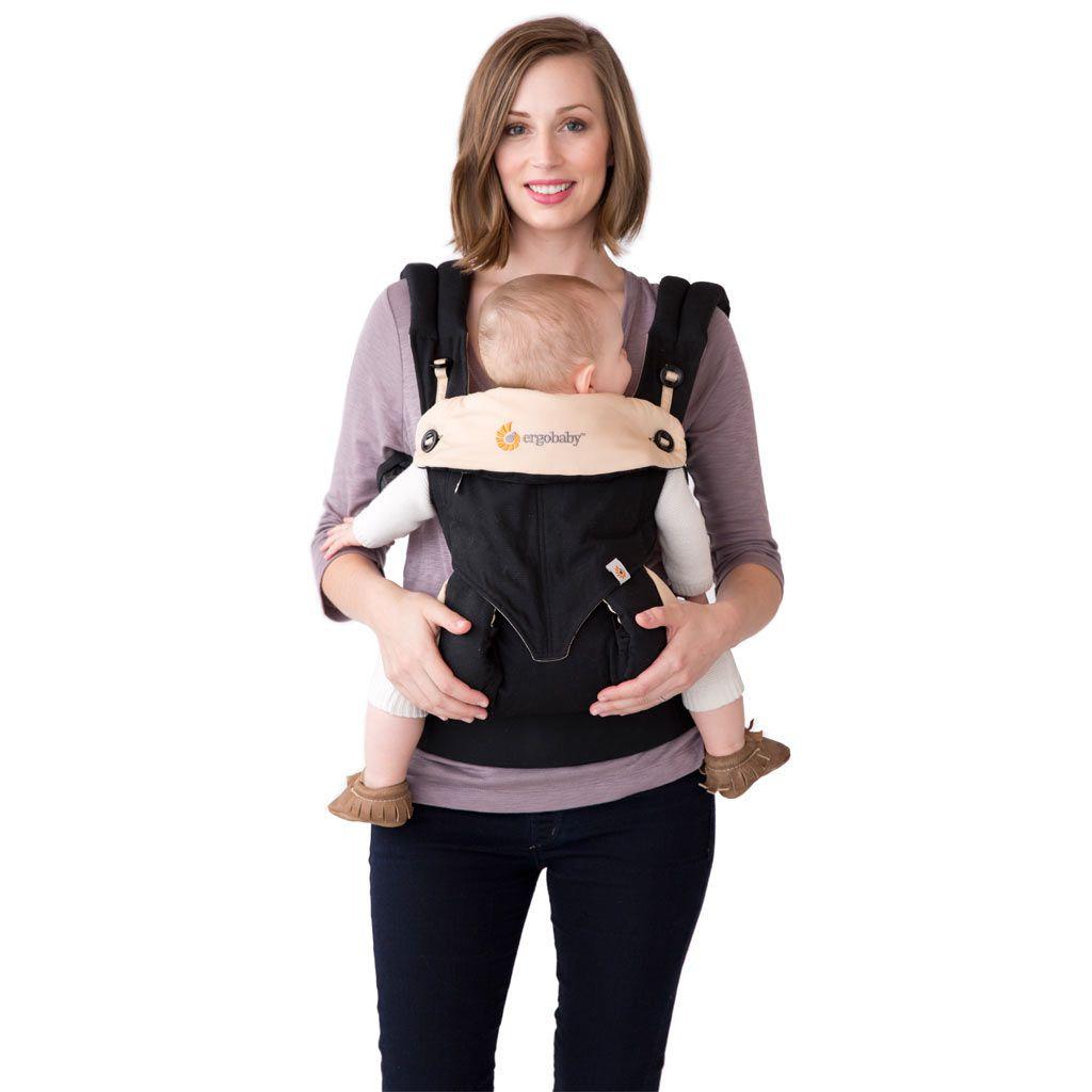 美國【Ergo baby】360度 嬰兒揹帶-黑駝色 1