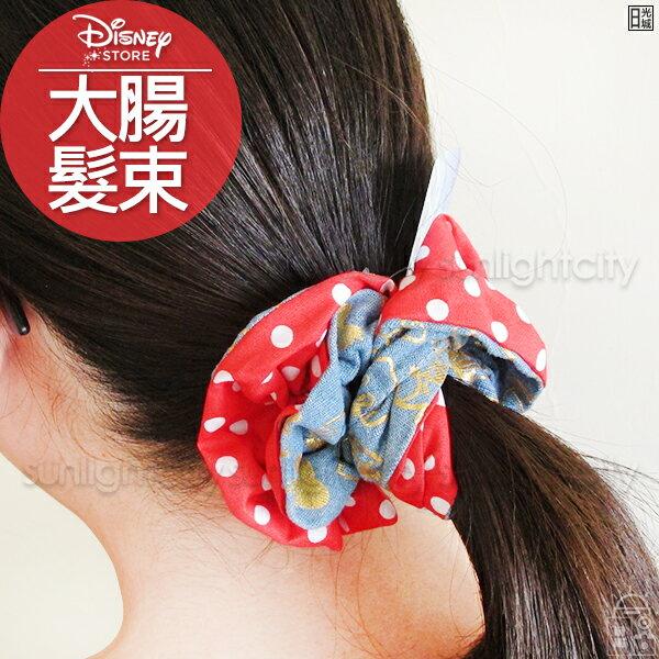 日光城。迪士尼牛仔布大腸髮束,燙金圖案髮束髮帶綁頭髮束髮束中米奇米妮史迪奇維尼