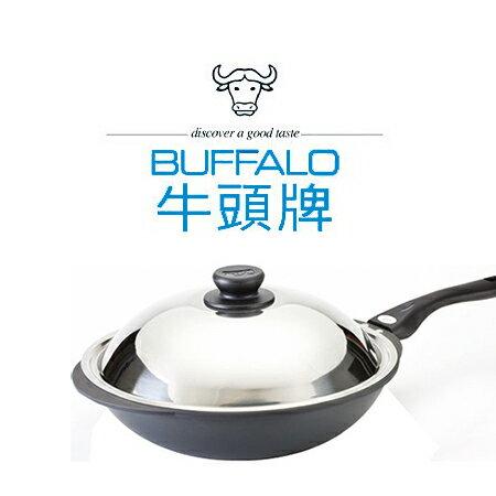 牛頭牌 小牛黑石單把炒鍋【33CM】小牛系列