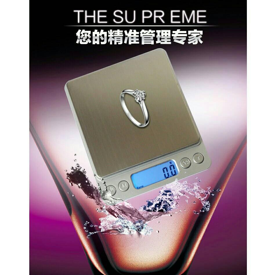 烘焙具匠   ~ 0.1  3公斤.500公克0.01 中文按鍵 含電池 冷光不銹鋼電子秤