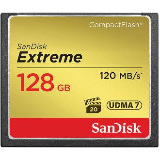 【普羅相機】SanDisk Extreme 128G 120MB/s 800X CF 記憶卡