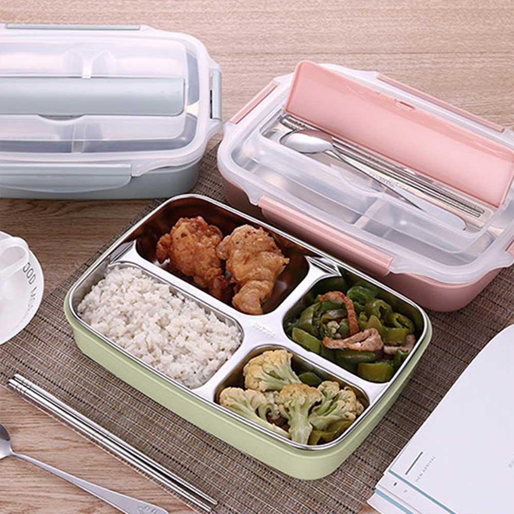新色上市 北歐304不鏽鋼分格便當盒 餐盒 保溫飯盒 餐盤 保鮮(附餐具) 2