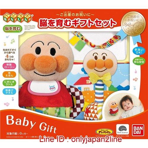 真愛日本:【真愛日本】16122000007嬰兒布製玩具禮盒組-AP電視卡通麵包超人細菌人兒童玩具正品限量