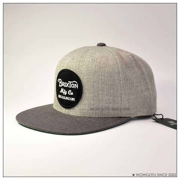【 BRIXTON 】街頭流行棒球帽 WHEELER 帽款-Light Heather Grey / Charcoal 0