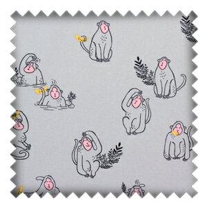 我的粉紅時代 • 美猴女王 • Think Pink Fabric Collection • Grey Monkey