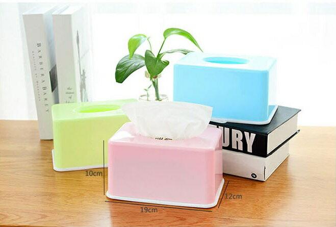 PS Mall 糖果色紙巾盒家用客廳茶几桌面抽紙盒【J008】 5