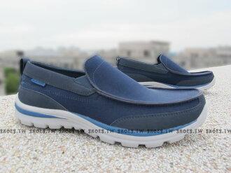 《降價58折》 Shoestw【64481NVBL】SKECHERS 健走鞋 SUPERIOR 彈力網布 深藍色 男款