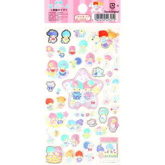【真愛日本】16042200065貼紙-TS夏日和風  三麗鷗家族 Kikilala 雙子星  貼紙 黏貼 卡片裝飾 文具