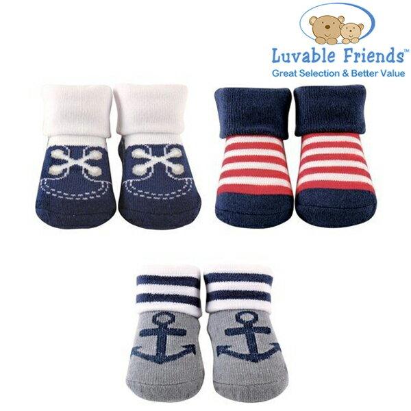 美國 Hudson Baby/Luvable Friends 嬰幼用品 寶寶造型襪 0-9M (3件組) - 可愛水手