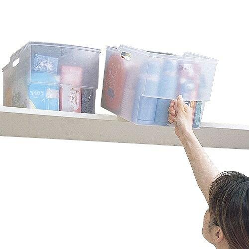 日本創意生活雜貨館:【特惠組】日本Fudogiken高位層板專用(13公升+10公升)手持收納籃