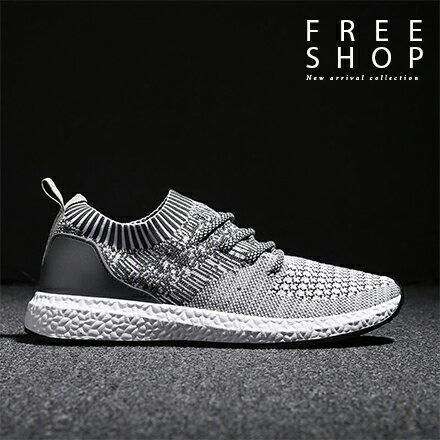 Free Shop:FreeShop潮流低筒飛織編織透氣襪套鞋懶人鞋運動鞋韓版時尚透氣休閒鞋帆布鞋【QAAON7152】