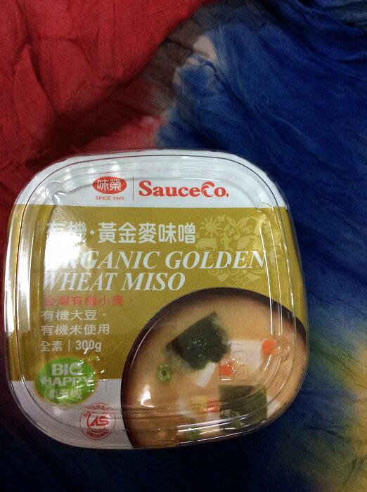 味榮 有機黃金麥/有機昆布味噌 300g/盒