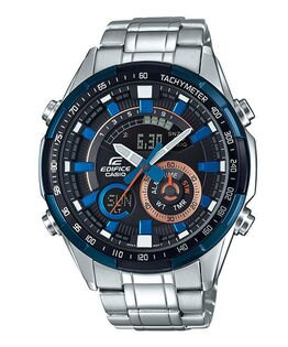 CASIO卡西歐EDIFICEERA-600DB-1A賽車概念多功能雙顯腕錶47mm