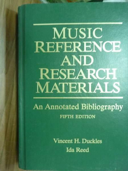 【書寶 書T2/原文書_PJZ】Music reference and research